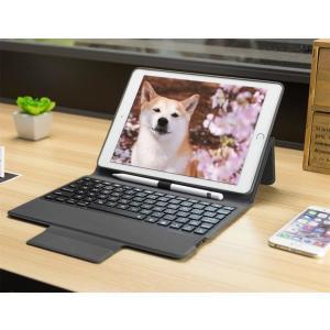 iPad キーボード iPad ケース 手帳型 air2 ワイヤレス iPad Pro 9.7  キーボードカバー タブレット|lush-intl