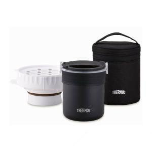サーモス ごはんが炊ける弁当箱 JBS-360 BK ブラック [THERMOS]|lush-life