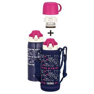 サーモス 真空断熱2ウェイボトル FHO-801WF NV-H ネイビーハート[直飲み/コップ/0.8L/800ml/水筒/保冷/保温/ポーチ付き/子供/キッズ] [THERMOS]|lush-life