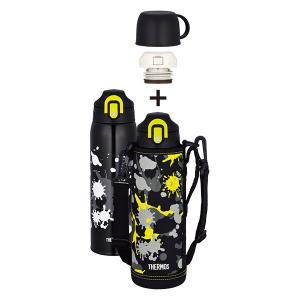 サーモス 真空断熱2ウェイボトル FHO-1001WF BK-PT ブラックペイント[直飲み/コップ/1L/1.0L/1000ml/水筒/保冷/保温/ポーチ付き/子供/キッズ] [THERMOS]|lush-life