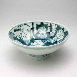 有田焼 手描き七福神小茶碗