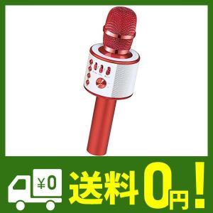 Verkstar Bluetooth カラオケマイク ポータブルスピーカー 高音質カラオケ機器 Bluetoothで簡単に接続 無線マイク 一人でカラ|lusterstore