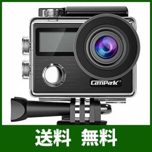 Campark 4K アクションカメラ 2000万画素 フルHD 2インチタッチスクリーン 30m防水 手ぶれ補正 WiFi搭載 64GBカード対応|lusterstore