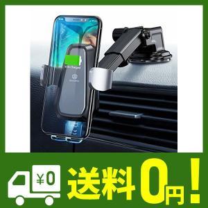 片手で操作可能:DesertWest 車用ワイヤレス充電器はタッチセンサー動力を搭載しています。スマ...
