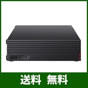 BUFFALO 外付けハードディスク 4TB テレビ録画/PC/PS4/4K対応 静音&コンパクト 日本製 故障予測 みまもり合図 HD-AD4U3 lusterstore