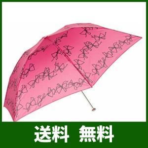 [ジルスチュアート] AURORA(オーロラ) JI-17721-21 リボン柄軽量カーボン折りたたみ傘|lusterstore