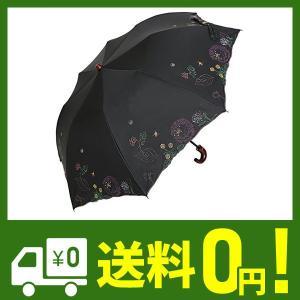 日傘 かわず張り 完全遮光 遮熱 特殊2重張り ボタニカル柄 ワイドショート|lusterstore
