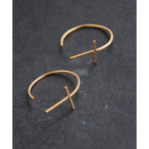 by boe バイボー Crossbar Hoops Large ピアス DM便可 180円|luvri