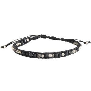 CHAN LUU チャンルー メンズ ブレスレット 1連 真鍮ビーズミックス BLACK MIX BSMZ-1787CLJ|luvri
