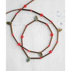 【ネコポス便可 380円】LUVRI メガネチェーン リーフ 3WAY ネックレス|luvri