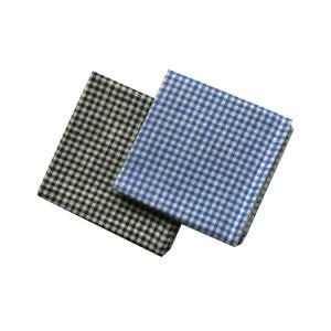 fog linen work ギンガムチェック ハンカチ DM便可 180円|luvri