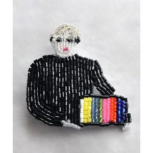 マリアンヌバトル MARIANNE BATLLE ブローチ Andy Warhol TV|luvri