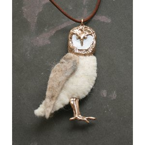 RENARD BIJOUX (レナードビジュー) WOOD OWL ネックレス WHITE|luvri