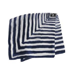 【DM便可 180円】フランスデザイン 正方形  ミニシルクスカーフ グリーン&ダークグレー|luvri