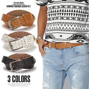 ベルト メンズ/ダイヤパンチングフリーホールフェイクレザーベルト/パンチング ダイヤ ファッション PUレザー 合成皮革 レザーベルト メンズファッション 紳士|lux-style