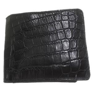 クロコダイル本革 二つ折り財布|luxcel-shop