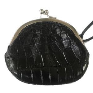クロコダイル本革 コンパクトがま口財布 小銭入れ|luxcel-shop