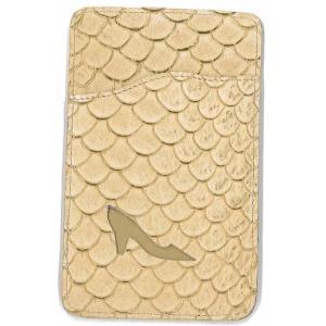 鯉革 パスケース/ICカードケース ベージュ|luxcel-shop