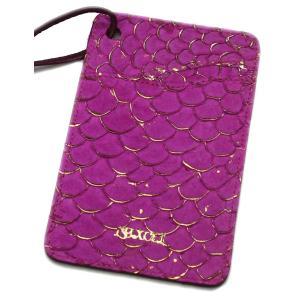 鯉革 パスケース/ICカードケース ピンク|luxcel-shop
