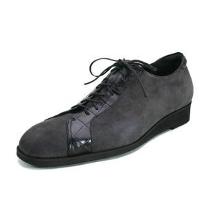 シルキースエード/クロコダイル カジュアル紳士靴 LC8004 ワイズも選べる受注生産 日本製・自社内製造|luxcel-shop