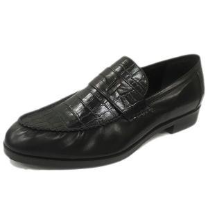 カーフ/クロコK ローファー LC9006 ワイズも選べる受注生産 ハンドメイド紳士靴 日本製・自社内製造|luxcel-shop