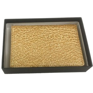 シャーク本革 カードケース/名刺入れ パールゴールド|luxcel-shop