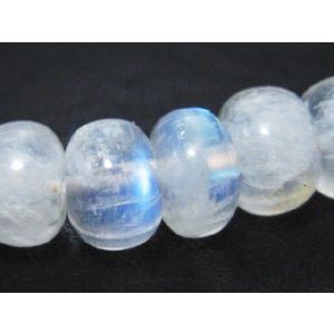 天然石ビーズ レインボームーンストーンAA 7〜8×5mm 1粒売り/ばら売り|luz