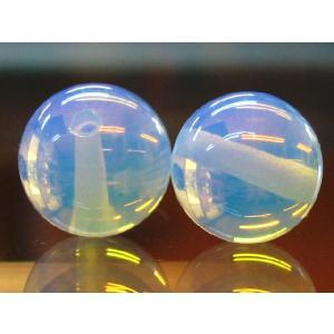 高級人工ビーズ ホワイトオパール 丸玉 10.0ミリ玉 1粒|luz