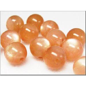 高品質ビーズ オレンジムーンストーンAAA ラウンド  6.0ミリ玉 1粒売り/ばら売り|luz