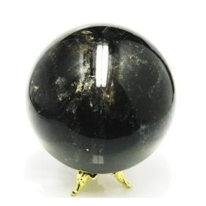 天然石丸玉 レインボーモリオン 黒水晶丸玉 56ミリ 250g www