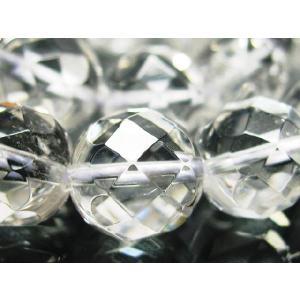 天然石ビーズ 水晶クリスタル64面カット 12.0mm玉 粒売り|luz
