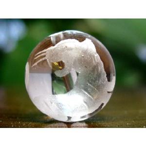 干支水晶ビーズ14mm玉/1粒【寅】 luz
