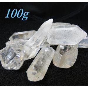 天然水晶ポイント 小 100g ブラジル産  2〜6個入り |luz