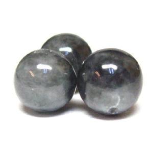 パワーストーン 天然石ビーズ 黒翡翠(ジェダイト) 8mm/1粒|luz