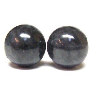 天然石ビーズ  黒翡翠(ジェダイト) 10mm/1粒|luz