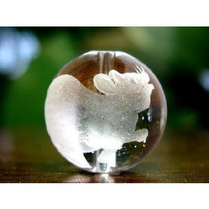 干支水晶ビーズ14mm玉/1粒【子】 luz