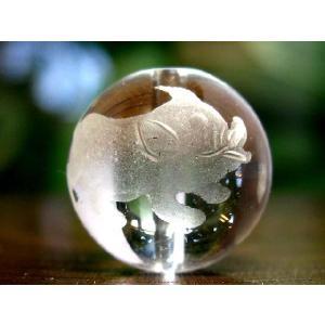 干支水晶ビーズ14mm玉/1粒【亥】 luz