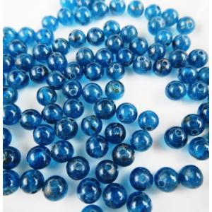 ビーズ 天然石 ブルーアパタイト AA ラウンド  4.0mm 1粒売り/バラ売り|luz