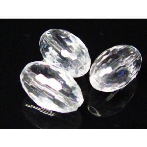 サービス品 水晶ライスカットビーズ12×8  1 粒売り |luz