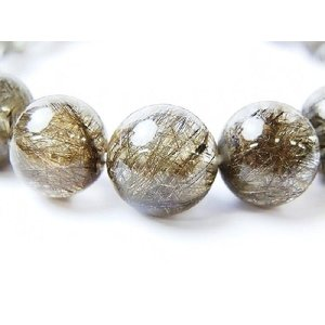 天然石 シルバールチルクォーツAAA 9.7〜10.0ミリ 丸玉ビーズ 1粒 |luz