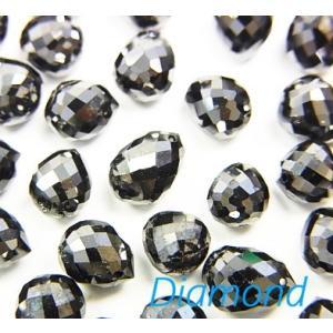 ブラックダイヤモンドAAA- 大粒ドロップ ブリオレットカット5.5〜7×4.5〜5×4.5〜5mm 1粒|luz