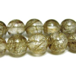 天然石 プラチナルチルクォーツAAA  6.0ミリ 丸玉ビーズ 1粒/高品質|luz