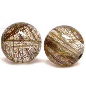 天然石 プラチナルチルクォーツAAA  8.0ミリ 丸玉ビーズ 1粒/高品質|luz