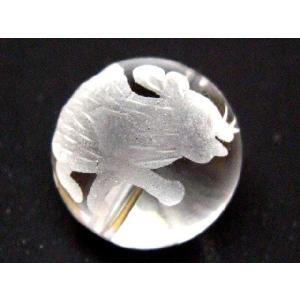 干支 彫刻ビーズ 水晶玉10mm/子 luz