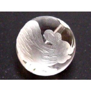 干支 彫刻ビーズ 水晶玉12mm/子 luz