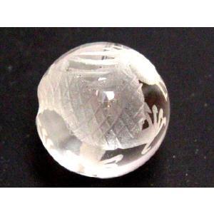 干支 彫刻ビーズ 水晶玉12mm/辰(竜) luz