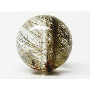 天然石 プラチナルチルクォーツAAA  9.0ミリ 丸玉ビーズ 1粒/高品質|luz