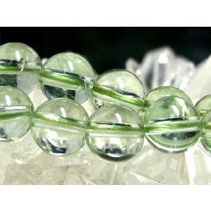天然石ビーズ グリーンアメジストAA ラウンド 10.0mm玉 1粒売り|luz