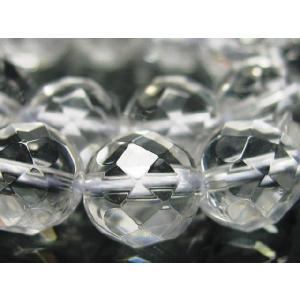 天然石ビーズ 水晶クリスタル64面カット 9.8〜10mm玉  粒売り|luz