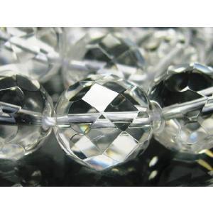天然石ビーズ  水晶クリスタル64面カット 14mm玉 1粒売|luz